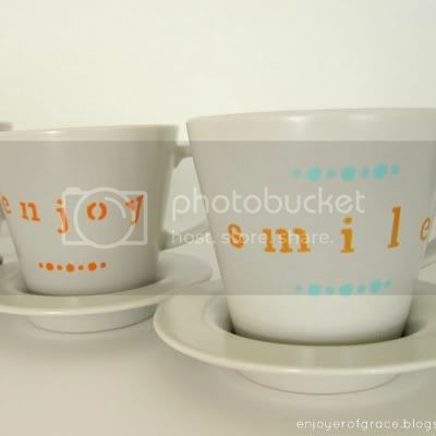 stenciled tea cups by weiya @ enjoyer of grace