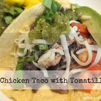 chicken and black bean tacos with tomatillo sauce by weiya @ enjoyer of grace