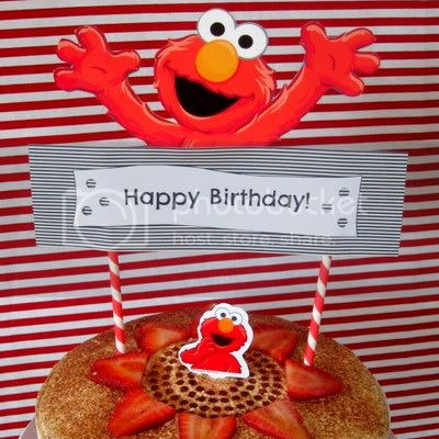 Elmo Strawberry Cake
