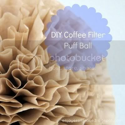 coffee filter puff by by weiya @ enjoyer of grace