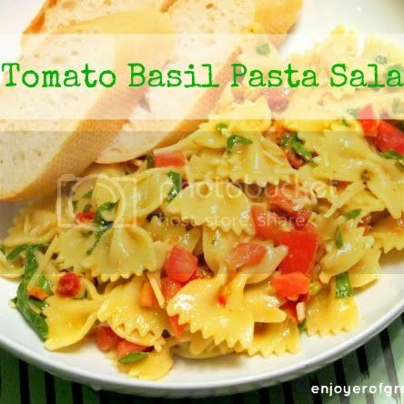 tomato basil pasta salad by weiya @ enjoyer of grace