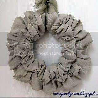 linen wreath by weiya @ enjoyer of grace